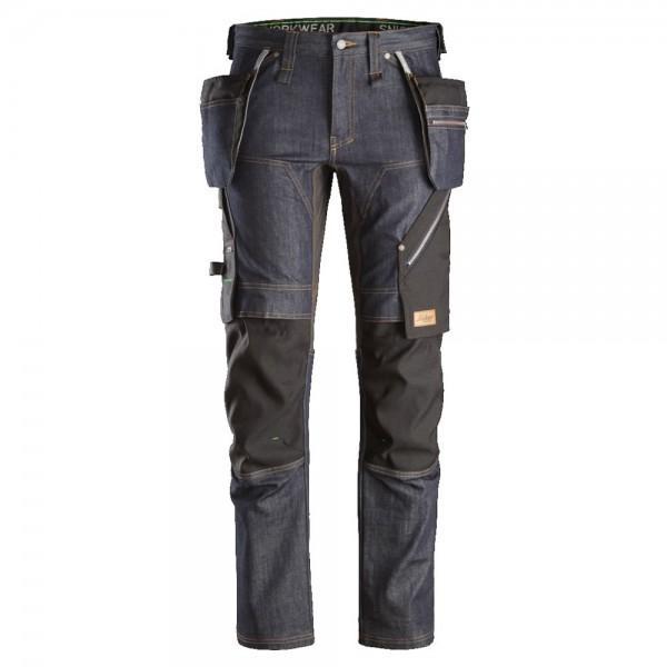 Snickers 6955 FlexiWork Denim Work Trousers Holster Pockets