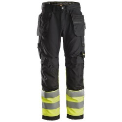 Snickers 6233 AllroundWork, Hi-Vis Work Trousers+ Holster Pockets CL1