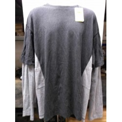 Stock Clearance Snickers Workwear 2425 Long Sleeve T-Shirt Black Grey XX Large 52 Chest (008) ex Display