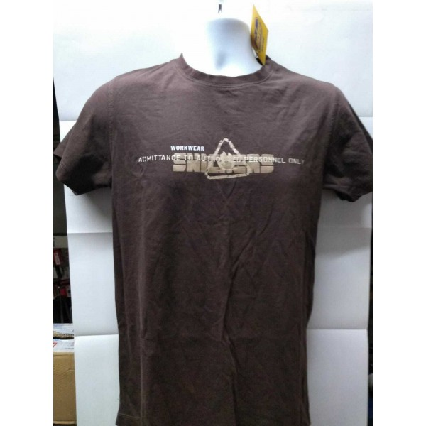 Stock Clearance Snickers Workwear 2520 T-Shirt Brown X Small 35 Chest (003) ex Display A1 Condition