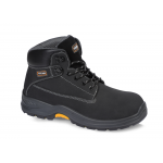Titan Holton Black Leather Steel Toe Mid-Sole Slip Heat Oil Resistant Safety Work Boots Shoe