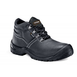 Titan Mercury Leather Steel Toe Slip Heat Oil Resistant Safety Work Boots Shoe