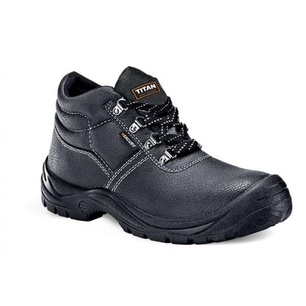 Titan Mercury Leather Steel Toe Slip Heat Oil Resistant Safety Work Boots Shoe
