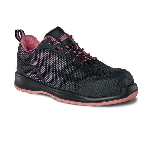 Titan Iris Womens Black Pink Steel Toe Cap Midsole Safety Shoe Trainer