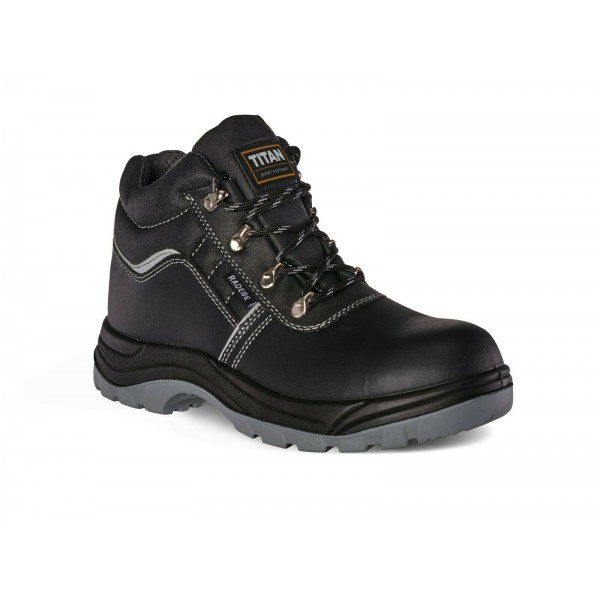 Titan Radebe Leather Steel Toe Oil Slip Heat Static Resistant Safety Work Boots Shoe