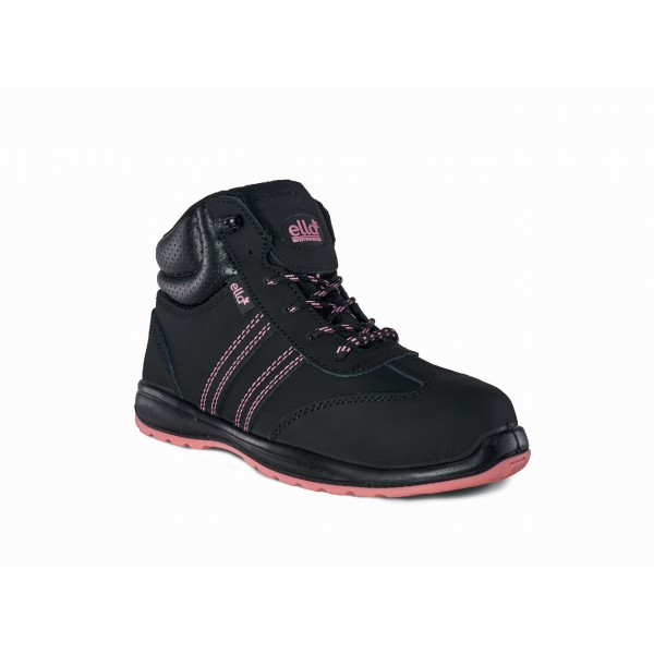 Titan Ella Jasmine Black Pink Women's Steel Toe Cap Work Shoes Leather Ankle High Safety Boots