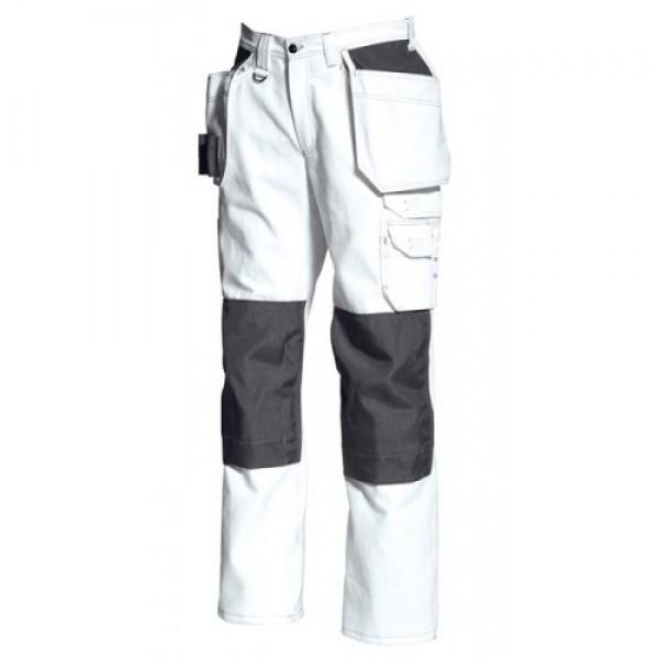 Tranemo White Cotton Craftsman Trouser