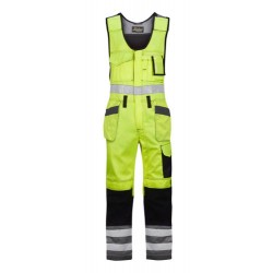 Snickers Workwear 0213 High-Vis One-Piece Trousers Class 2