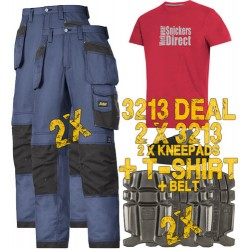 Snickers 3213 x2 Holster Trousers Plus T-Shirt, Belt & Kneepads