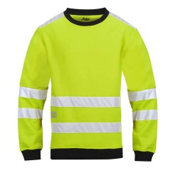 Snickers Workwear 8053 High-Vis Sweatshirt Class 3