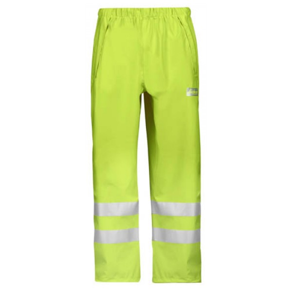 Snickers Workwear 8243 High-Vis PU Rain Trousers Class 2
