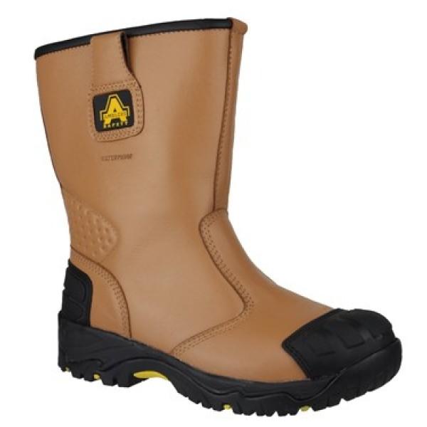 Amblers FS143 Waterproof Rigger Boots Steel Toe Caps & Midsole Scuff Cap