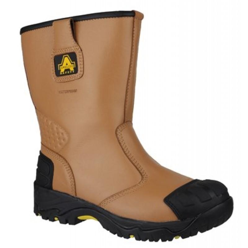 Amblers FS143 Waterproof Rigger Boots Steel Toe Caps /& Midsole Scuff Cap
