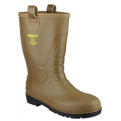Amblers FS95 Tan PVC Rigger with steel toe cap and midsole