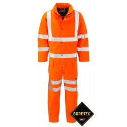 GORE-TEX Coverall 2 Layer Orange Class 3  High Viz