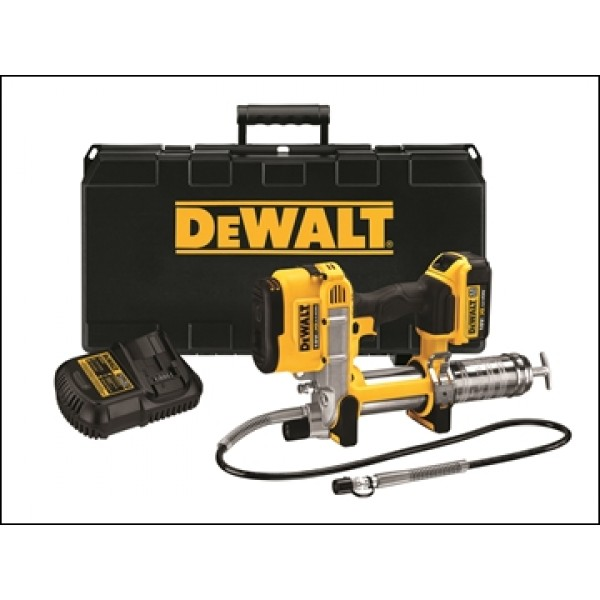DEWALT Cordless XR Grease Gun 18 Volt 1 x 4.0Ah Li-Ion