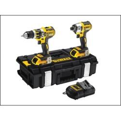 Dewalt DCK250D2 XR Brushless Twin Pack 18 Volt 2 X 2.0ah Li-ion