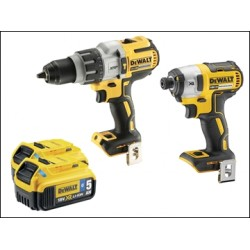 Dewalt DCK276P2B Brushless Twin Pack 18 Volt 2 X 5.0ah Bluetooth Li-ion