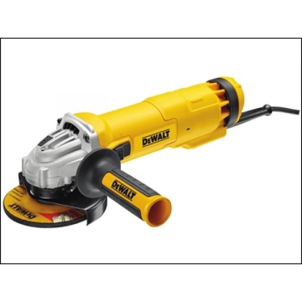 Dewalt DWE4206K 115mm Mini Grinder With Kitbox 1010 Watt 110v or 240v