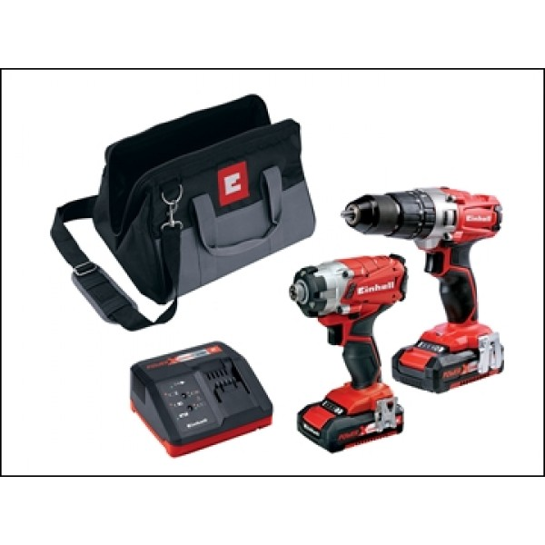 Einhell Power-X-Change Combi Drill Driver Twin Pack