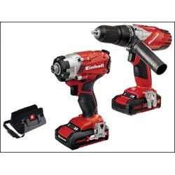 Einhell Power-X-Change Combi Impact Driver Twin Pack