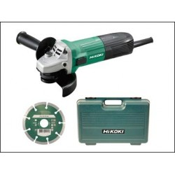 HiKOKI G12STX/J8 Angle Grinder 115mm, Diamond Blade & Case 600W 110V or 240V