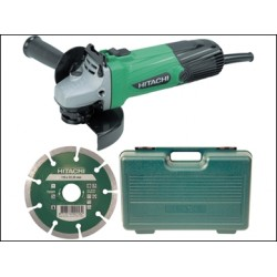 Hitachi G12SSCD 115mm Angle Grinder with Diamond Blade + Case 580 Watt 110v or 240 Volt