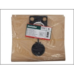 Metabo Paper Filter Bags For ASR Wet Dry Vacuum Cleaners Pack of 5